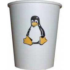07 Oz Linux Penguen Temalı Karton Bardak (100 lü)