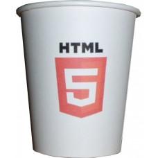 07 Oz HTML 5 Temalı Karton Bardak (100 lü)