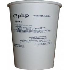 07 Oz PHP Kod Temalı Karton Bardak (100 lü)